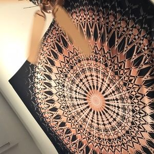 Other - black and rose gold mandala wall tapestry